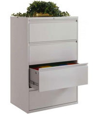Custom Metal Fabricated Cold Rolled Steel Lateral Filing Cabinets